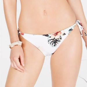 Roxy side tie floral bikini bottoms, Small